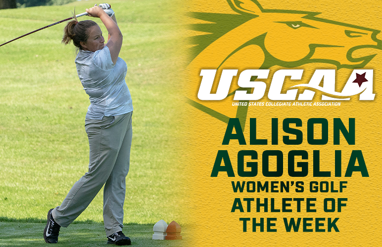 Agoglia Awarded Second USCAA Athlete of the Week