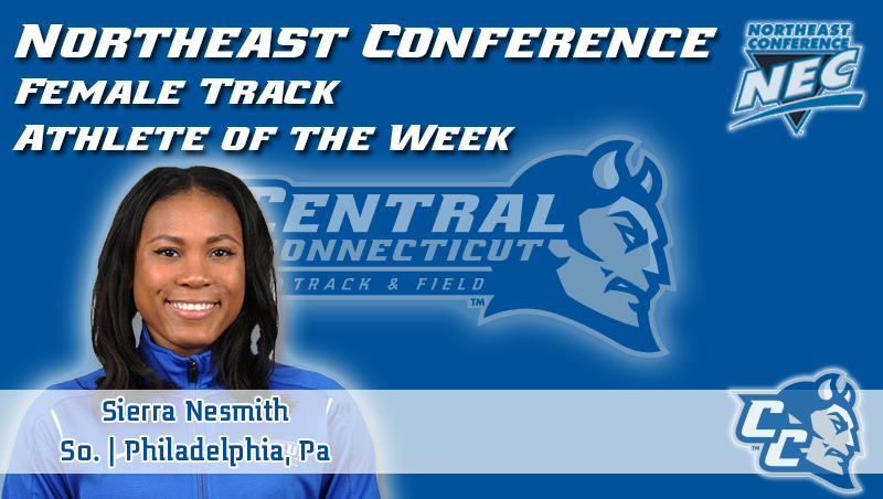 Northeast Conference Proclaims Nesmith as Women's Track Athlete of the Week