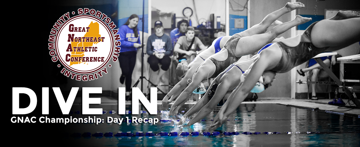 GNAC Swimming & Diving Championship: Day One Recap