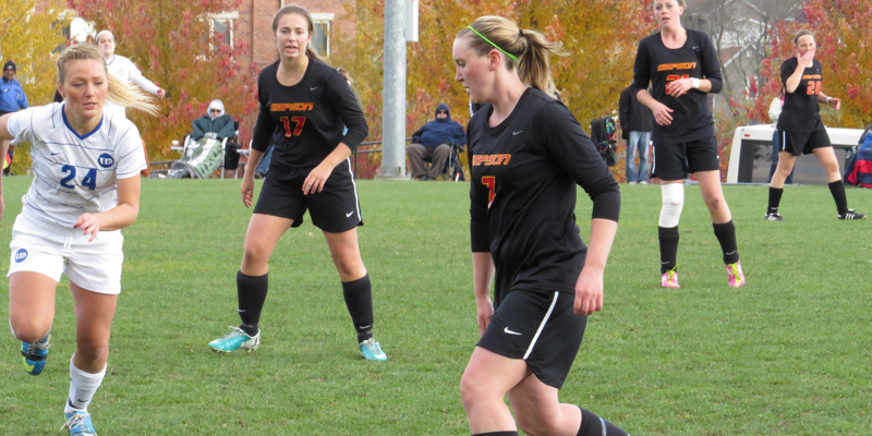 Women's soccer bows out of IIAC Tournament