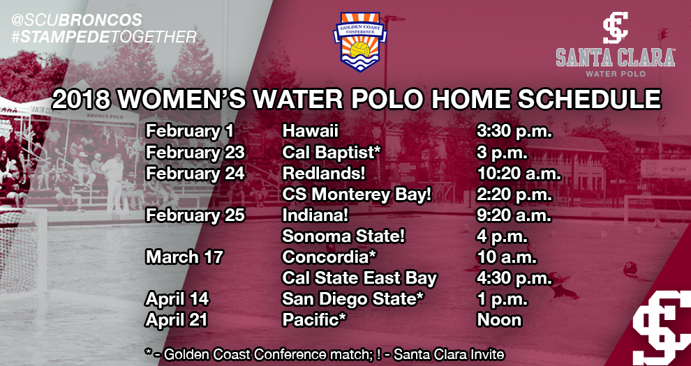 Women's Water Polo 2018 Schedule Announced