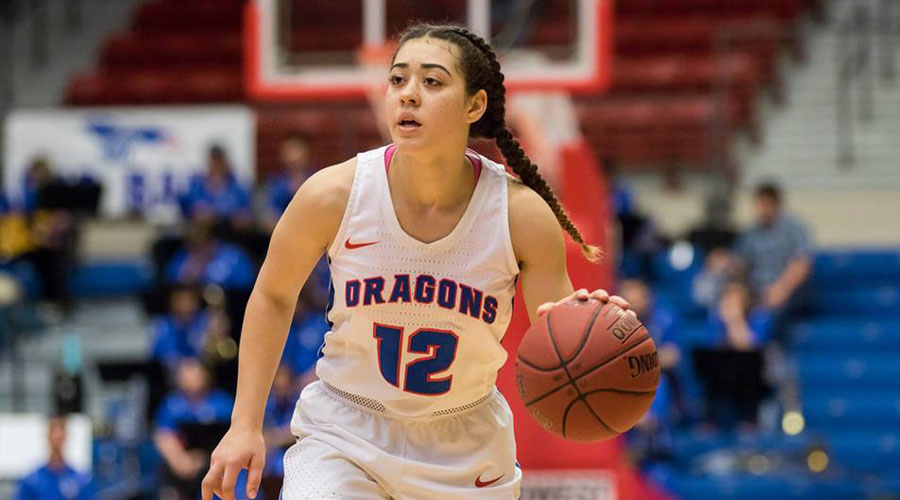 Tia Bradshaw and the No. 19 Blue Dragon women open Region VI Tournament play with Pratt at 5:30 p.m. on Thursday at the Sports Arena. (Allie Schweizer/Blue Dragon Sports Information)