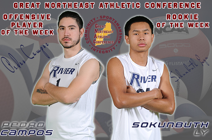 Men's Volleyball: Campos and Ly earn GNAC honors.