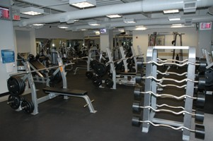 The varsity weight room