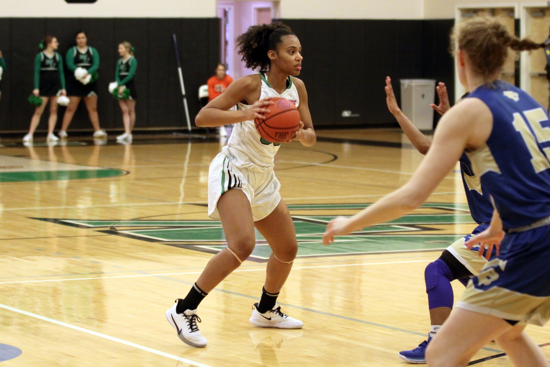 File photo of Jadyn Whitsitt who led the Wildcats with 15 points, 4 rebounds, and 4 assists at Chestnut Hill. Copyright 2020; Wilmington University. All rights reserved. Photo by Mary Kate Rumbaugh. January 8, 2020 vs. Georgian Court.