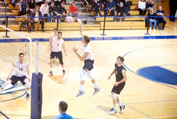 Men's Volleyball Drops Two at New Paltz on Sunday Afternoon