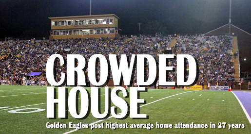 Golden Eagle football draws largest average home attendance in 27 years