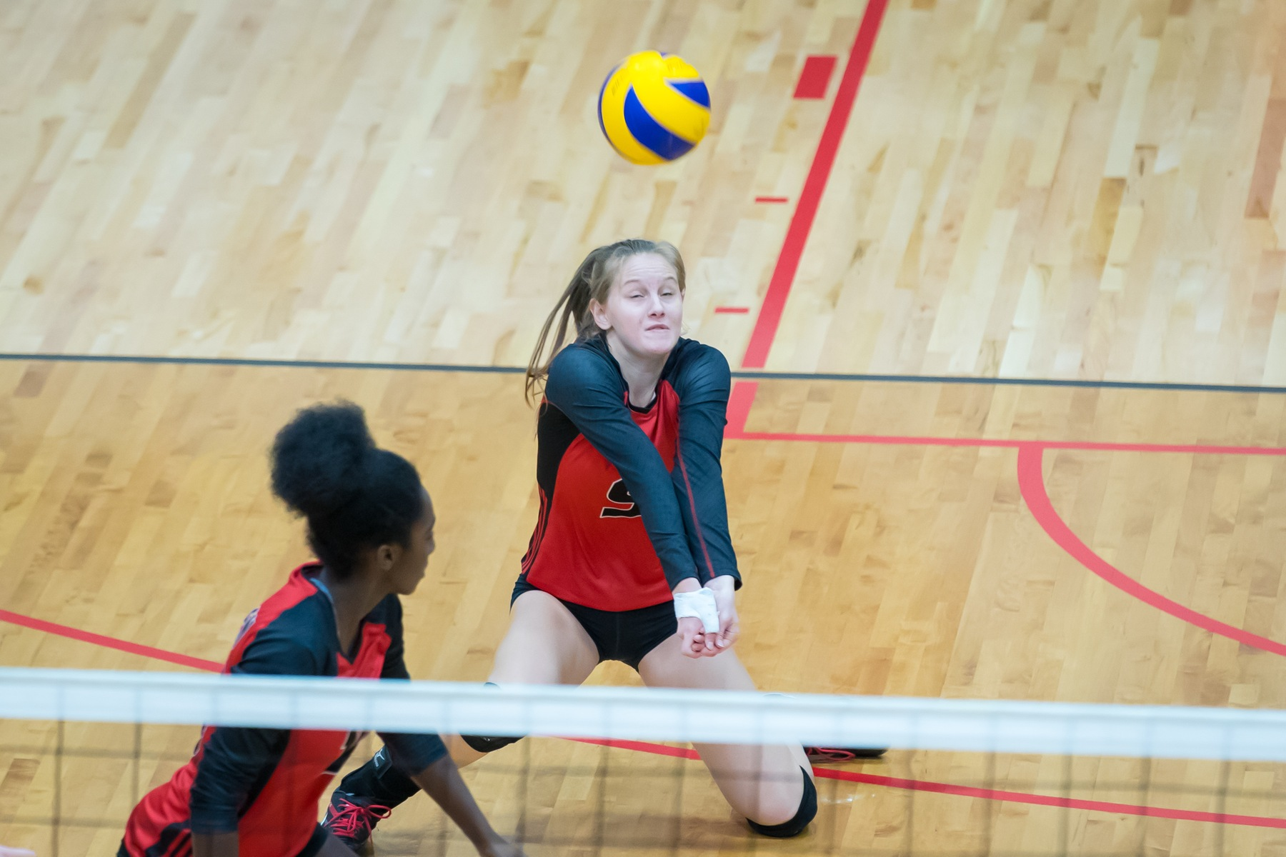 Emma Parker posted a career-high 17 digs in a loss at Regina on Saturday. (Kelly Morton/Wesmen Athletics file)
