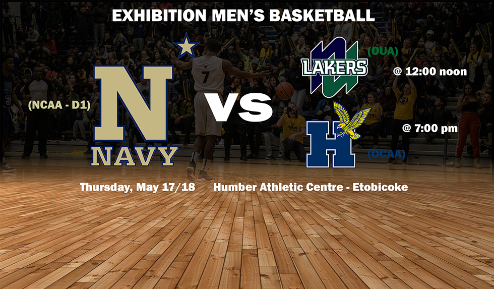 NAVY MEN'S BASKETBALL COMING TO HUMBER FOR PAIR OF GAMES