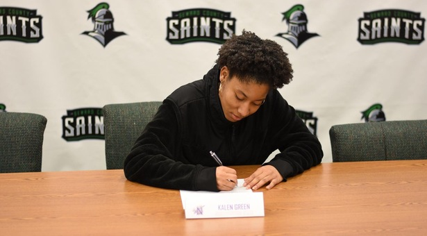 Green signs with Division I Northwestern State