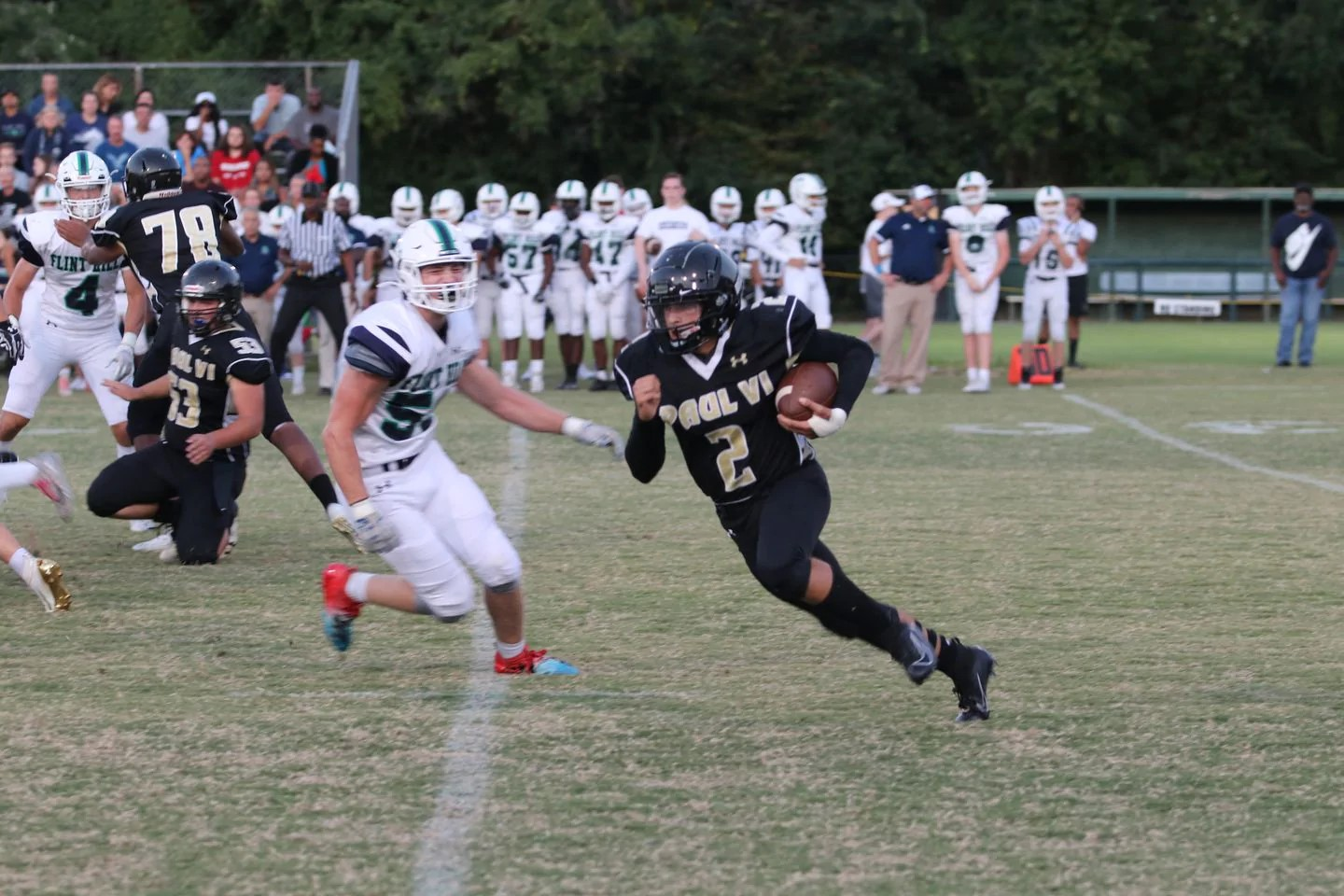 PVI Quarterback Ryan Cammas versus Flint Hill. (Photo by: Stephen Schultz)
