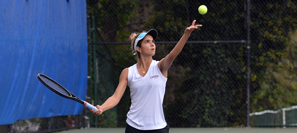 Women's Tennis Sweeps Caldwell, 9-0, in CACC Play