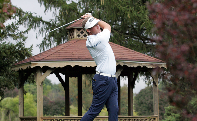 Men's Golf Third After First Round of Collins Memorial