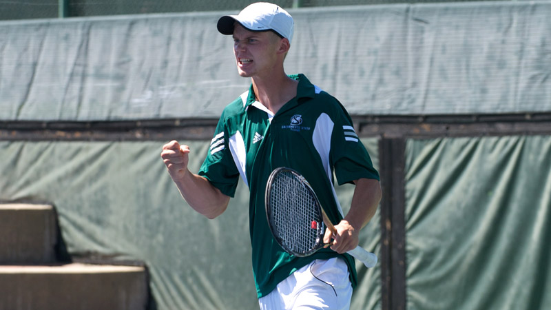CLUTCH MARKSOO COMES THROUGH AGAIN IN MEN'S TENNIS' FIRST DIV. I-ERA WIN AGAINST FRESNO STATE