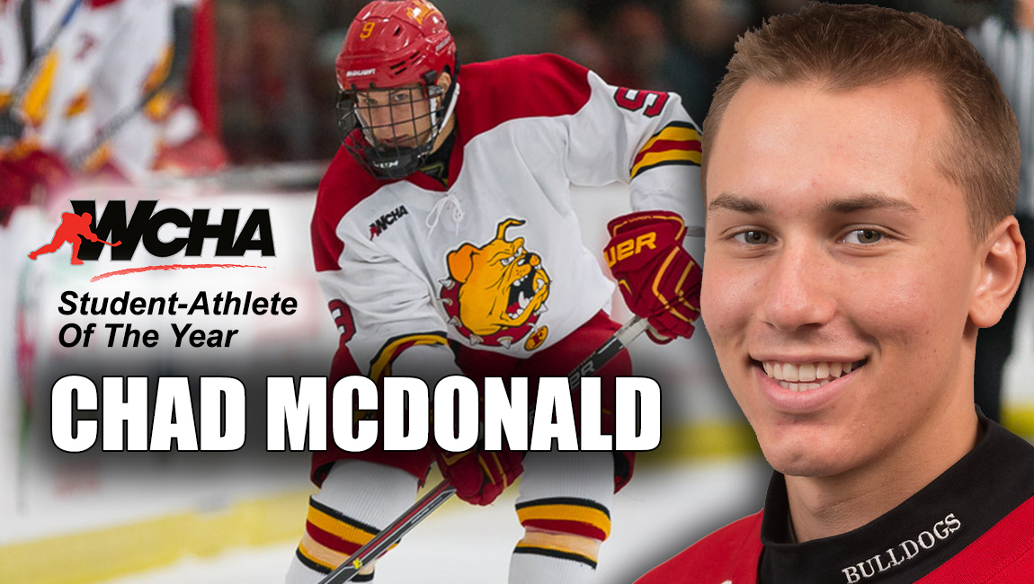 Bulldog Hockey Senior Chad McDonald Tabbed As 2017 WCHA Student-Athlete Of The Year