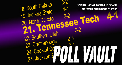 Golden Eagles ranked in top 25 in both FCS polls