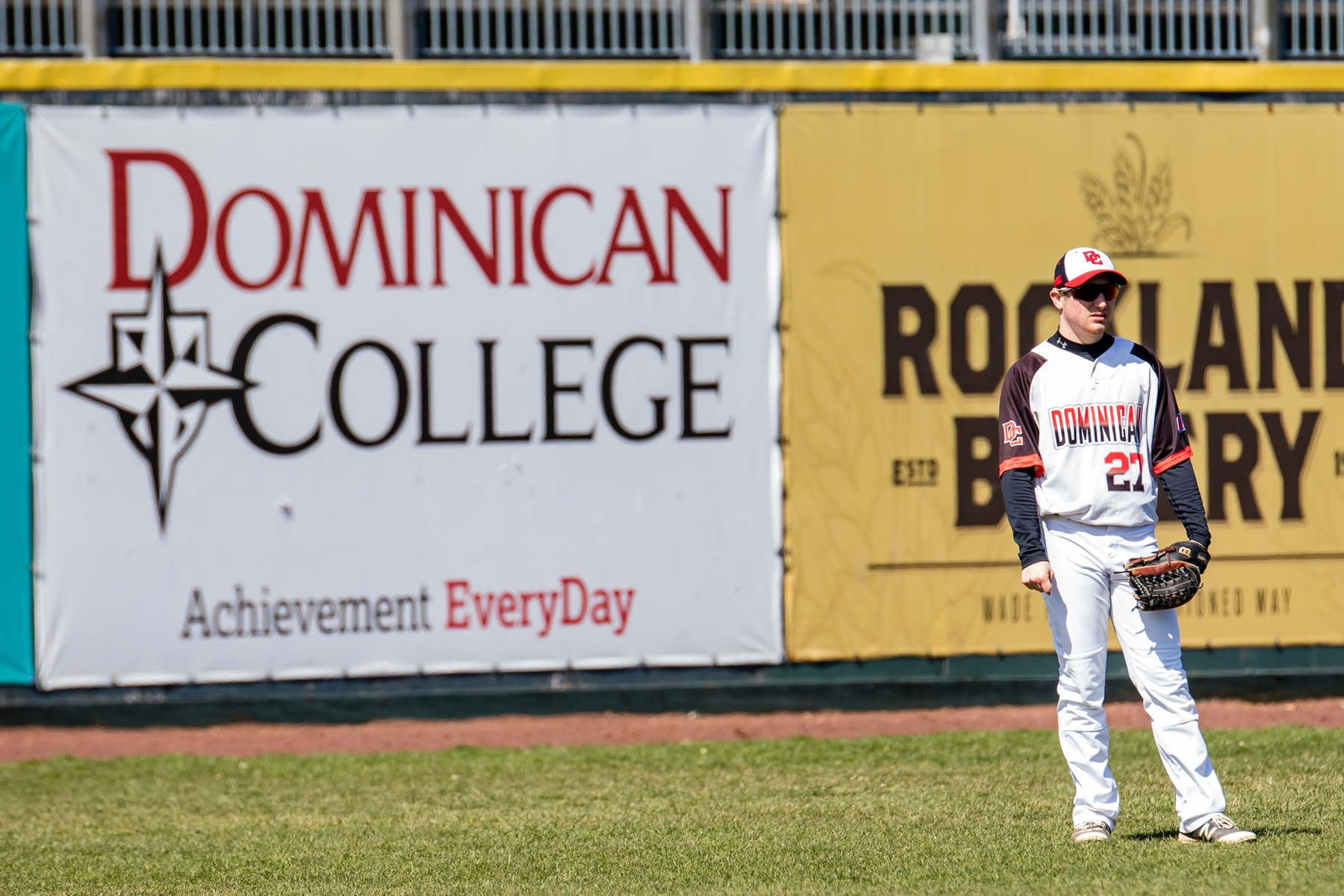 Dominican baseball split a CACC DH with Bloomfield College.