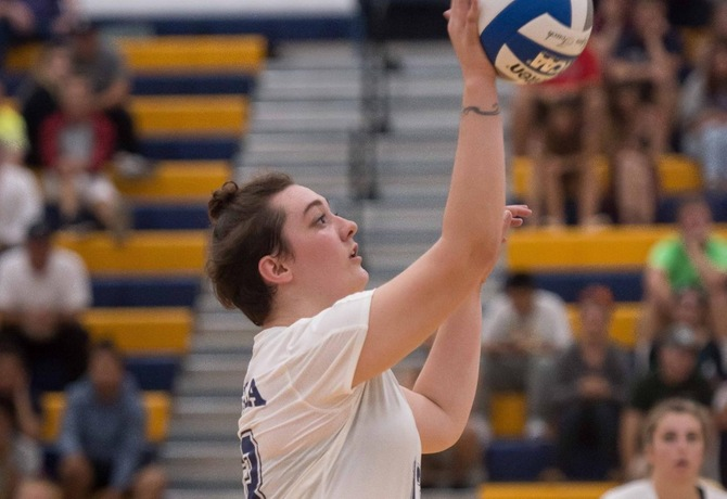 Volleyball earns first win of 2017 with 3-0 win over Bay Path