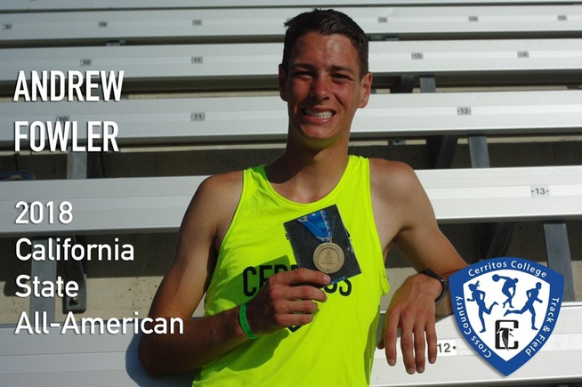 Andrew Fowler was an All-American in the decathlon