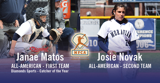 Matos & Novak Selected as NFCA DIII All-Americans; Matos Named Diamond Sports DIII Catcher of the Year