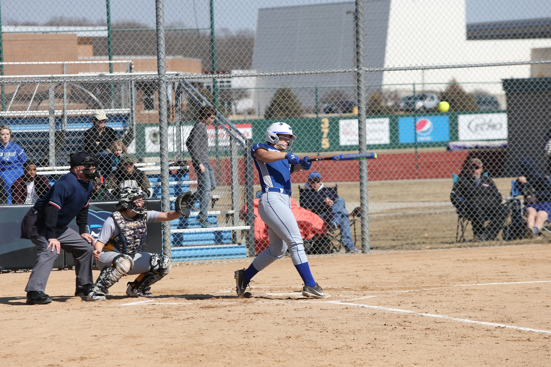 Softball picks up two wins in KC