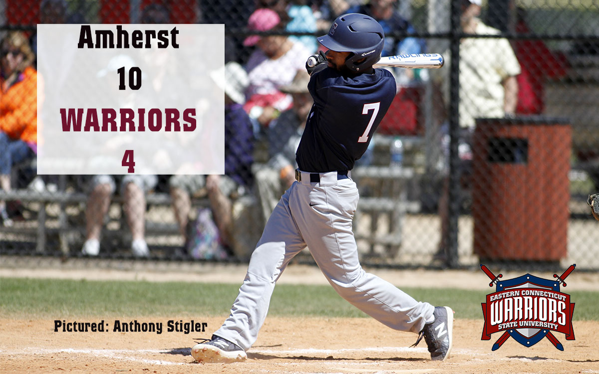 Baseball: Amherst College Sends Warriors to Third Straight Road Loss, 10-4