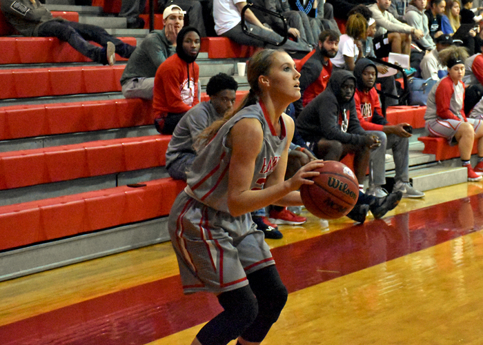 Alex Lowery scored 21 points against Brevard on Sunday in Huntingdon's home opener.