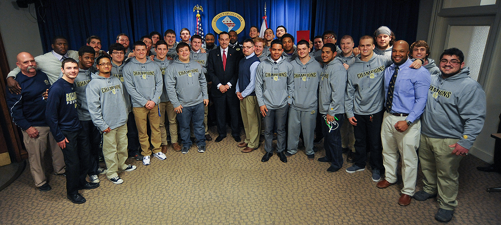 Gallaudet University Football Day in D.C. as Bison meet Mayor Gray