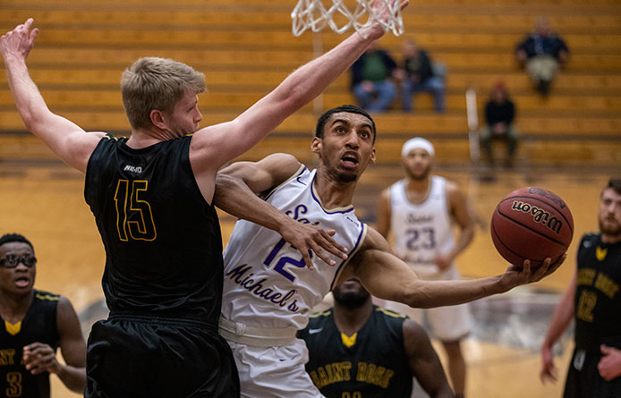 Men's Basketball Nabs 70-64 Win Over Saint Rose, Qualifier for Last Two NCAA Tournaments