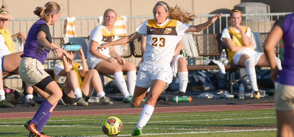 Sophomore forward Kortney Marzenski scored her first collegiate goal in BW's 2-1 loss to Grove City (Pa.)