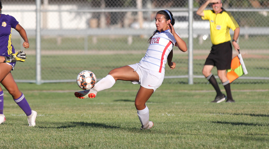 Ashley Venegas and the Blue Dragon women's soccer team heads to Pratt for a 3 p.m. Jayhawk West battle Saturday. (Bre Rogers/Blue Dragon Sports Information)