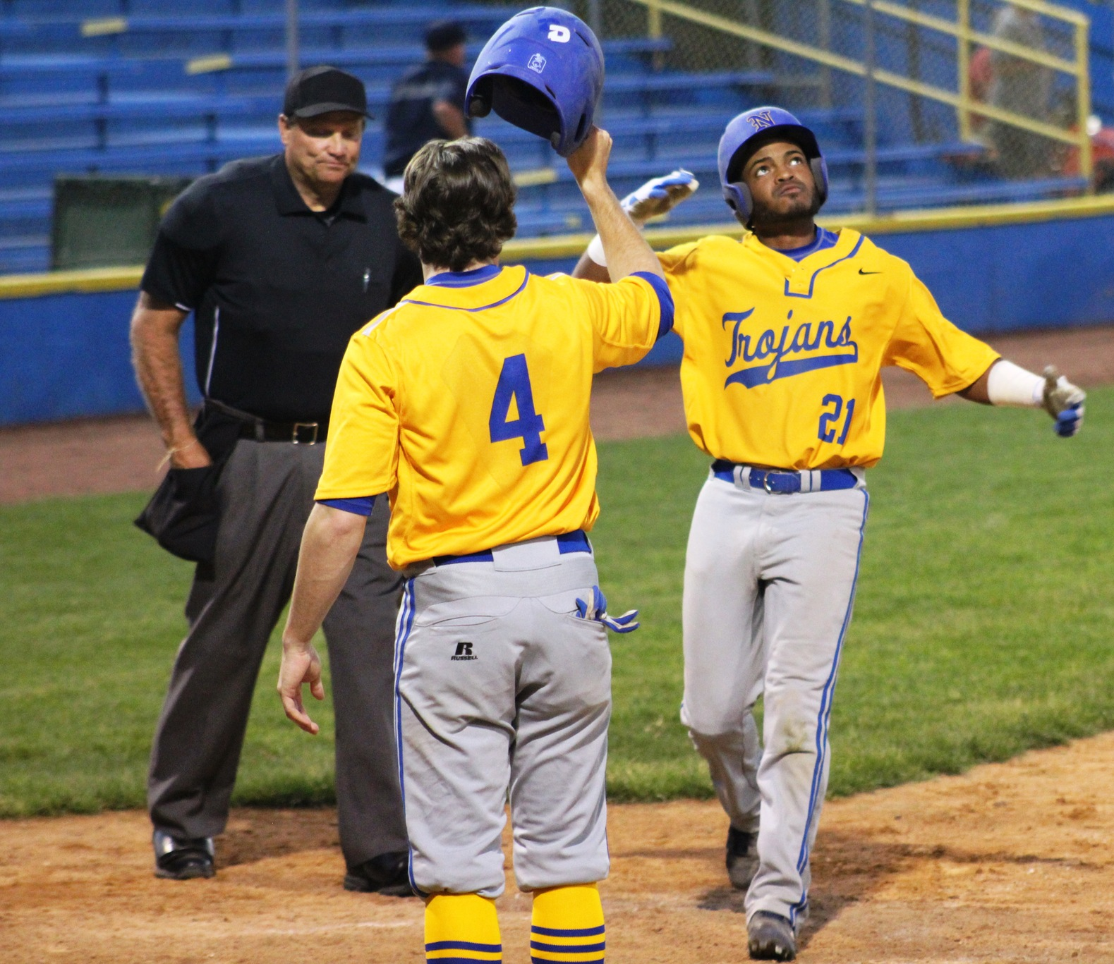 NIACC's Eze Encarnacion approaches home plate after hitting a home run against Iowa Central in the 2017 regional tournament in Waterloo.