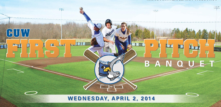 CUW Baseball, Softball to host First Pitch Banquet April 2