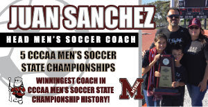 Juan Sanchez Captures 5th CCCAA Men's Soccer State Championship