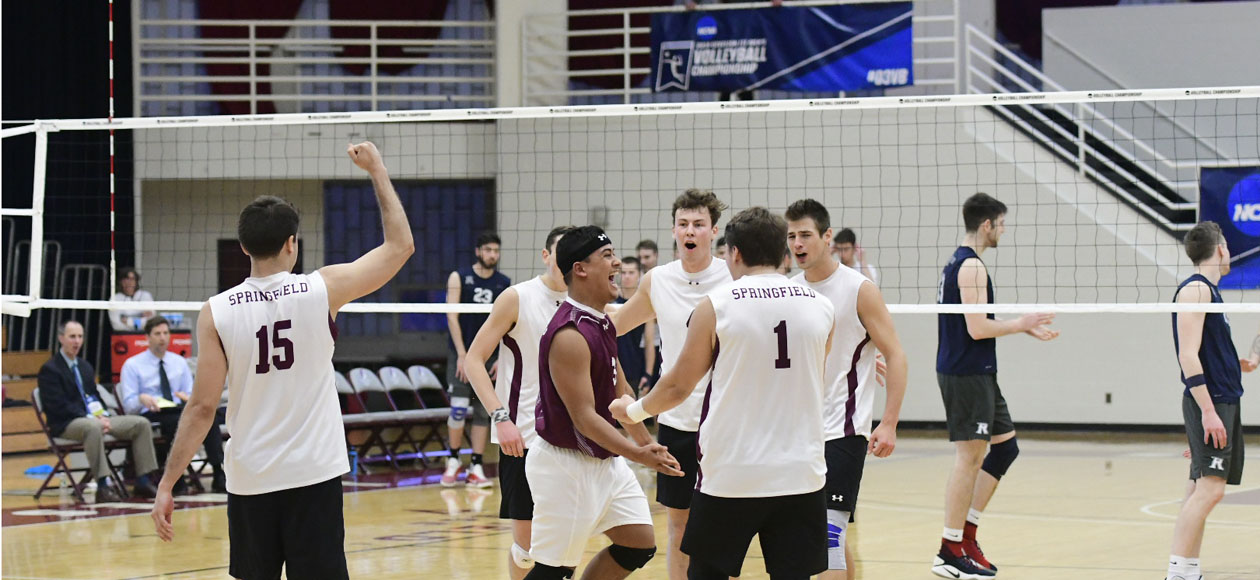 Top-Ranked Men's Volleyball Powers By Rivier In NCAA Division III Championship Quarterfinals