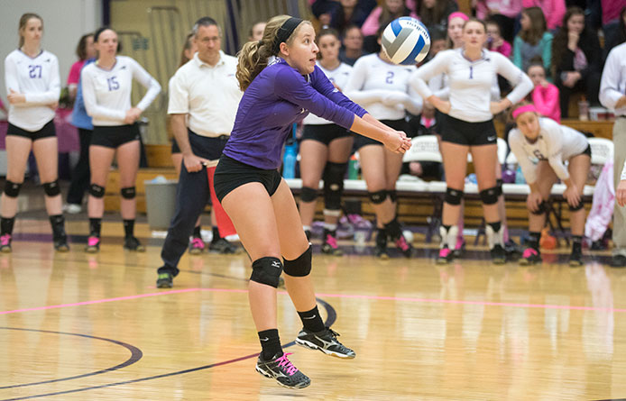 Moore breaks Saint Michael's record for career digs during loss to AIC
