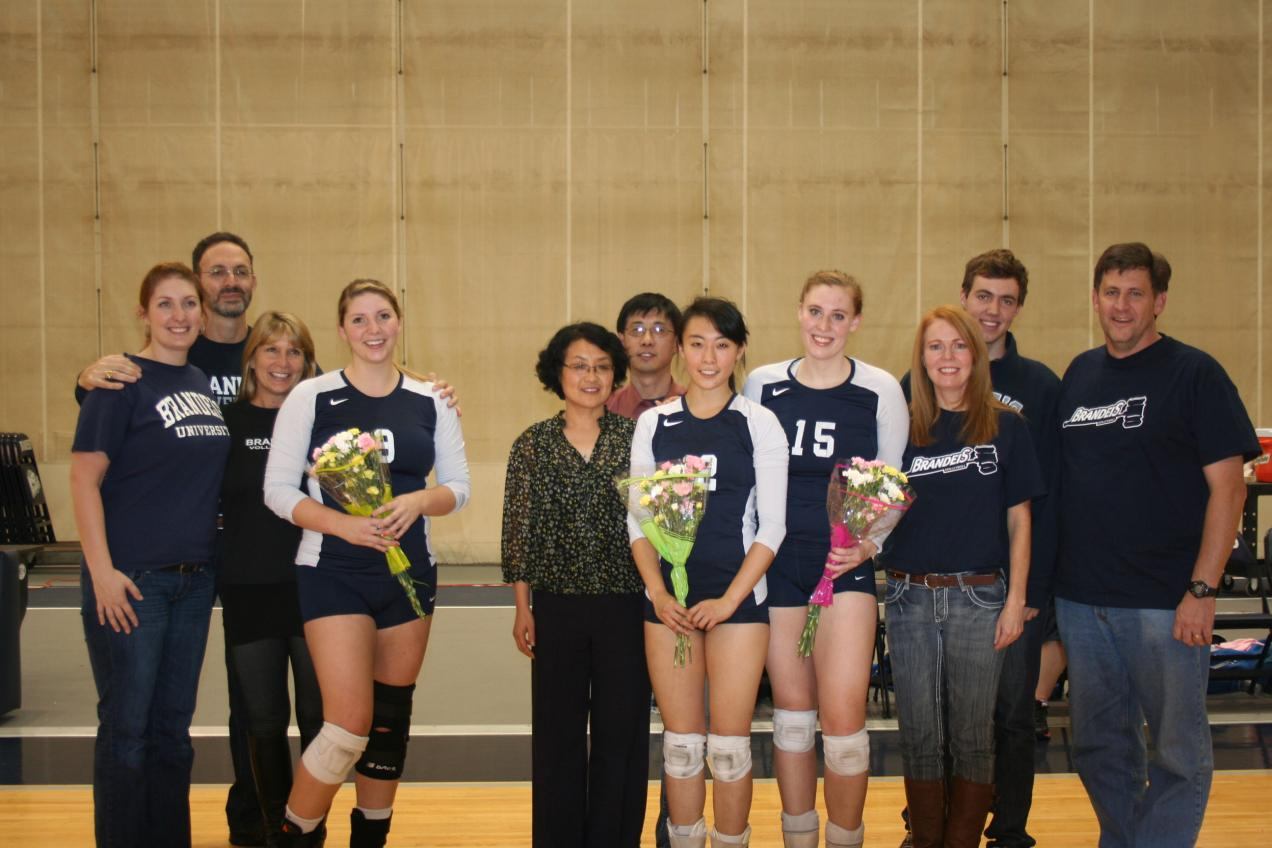 Brandeis Volleyball Class of 2013!