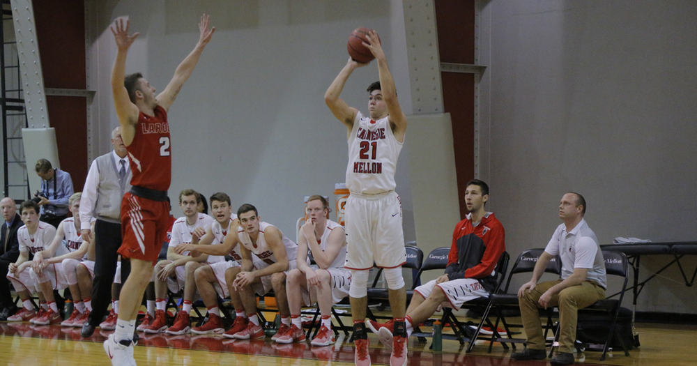 Men's Basketball Tops Century Mark in CMU DoubleTree Invitational Win Over Mount Aloysius