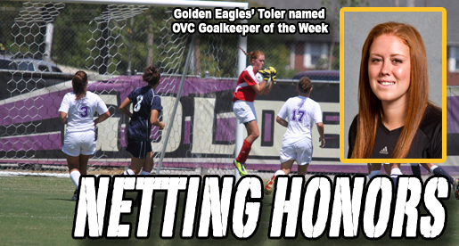 Toler earns OVC Goalkeeper of the Week honors