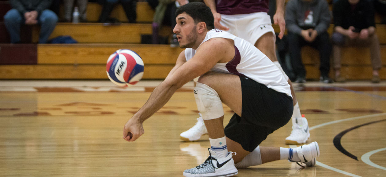 No. 1 Men's Volleyball Topples No. 5 New Paltz In Straight Sets