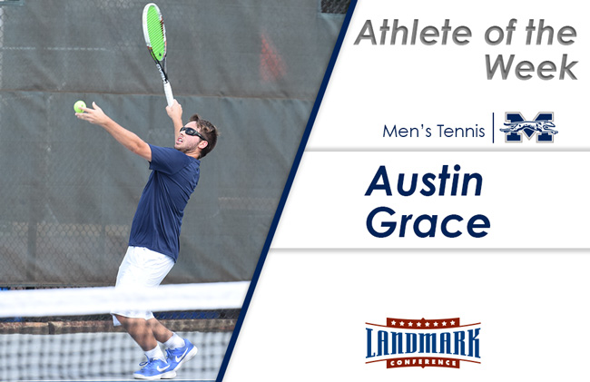 Austin Grace '19 honored as Landmark Conference Men's Tennis Athlete of the Week.