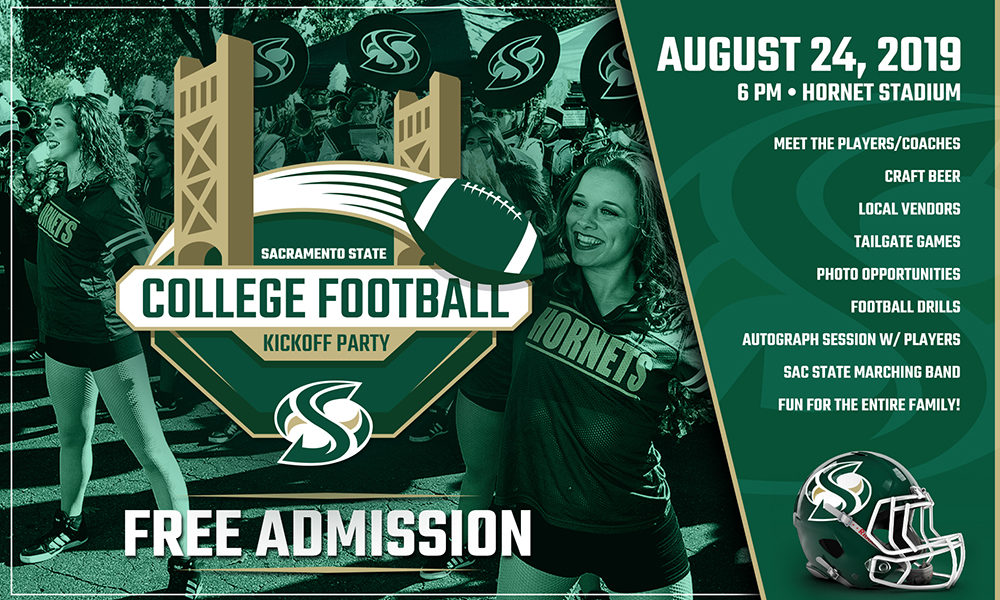 SACRAMENTO STATE COLLEGE FOOTBALL KICKOFF TO TAKE PLACE ON SATURDAY