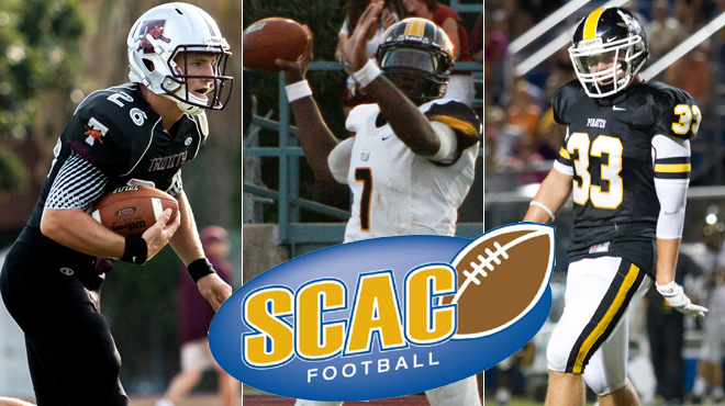 TLU's Peavy, Southwestern's Frisby, Trinity's Kennemer Named SCAC Football Players-of-the-Week
