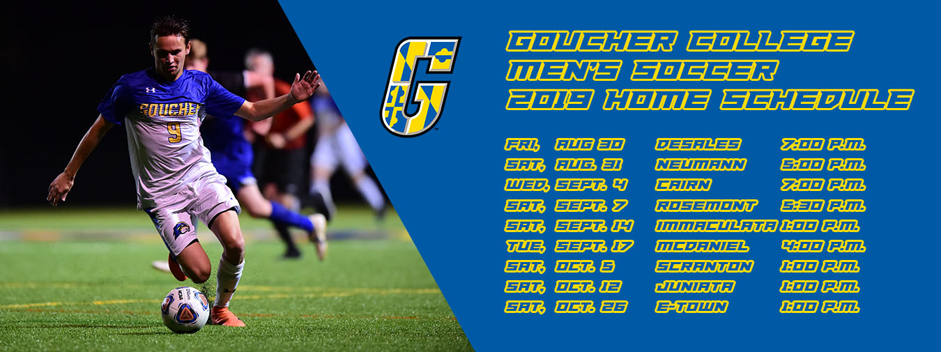 Goucher Men's Soccer Announces 2019 Slate