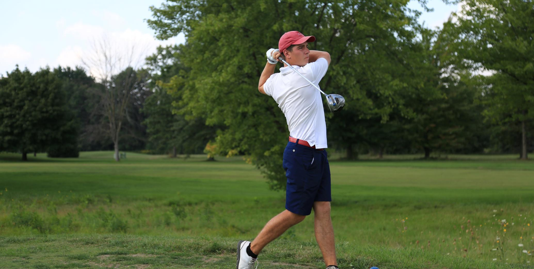 Ryan Peruski shot a five-under 67 in round one at the Purgatory Regional on Sunday...