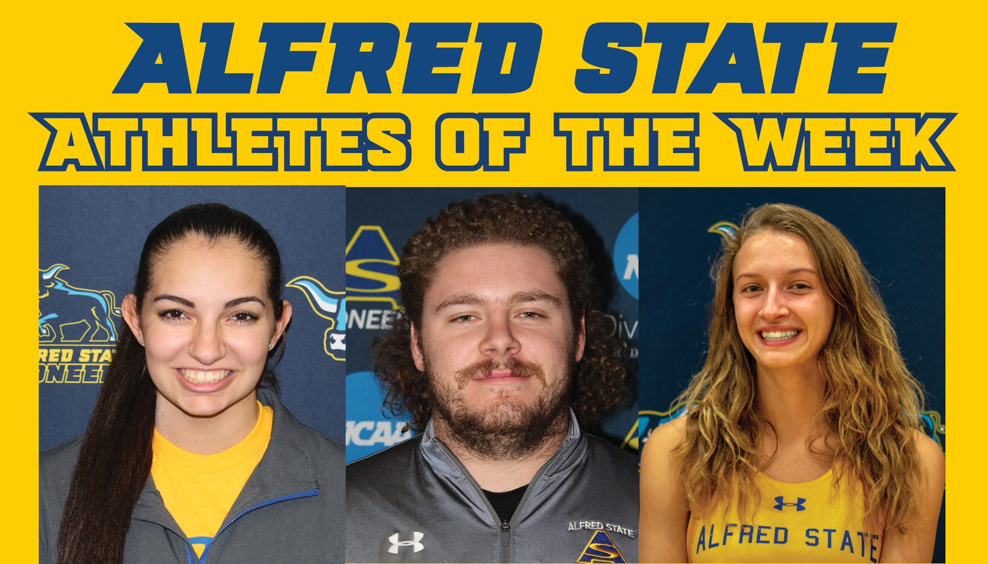 Jessie LaRue, Ryan Mattison, and Emily Brigman Named Athletes of the Week