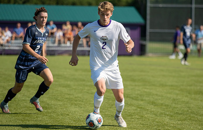 Gallier's First College Strike Lifts Men's Soccer Past Saint Anselm, 1-0