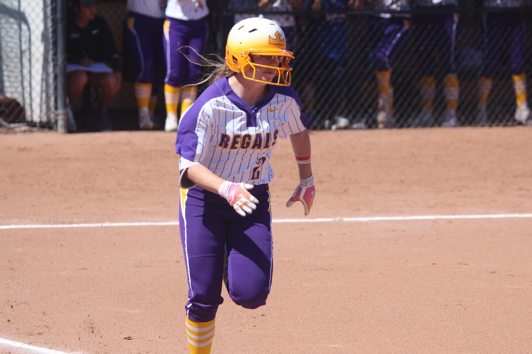 Lauren Salvati tallied four RBI in the doubleheader with Chapman.