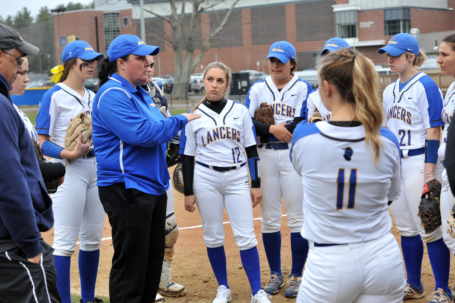 Cote Picks Up 100th Win as Lancers Sweep Buccs; Softball Earns MASCAC Regular Season Title