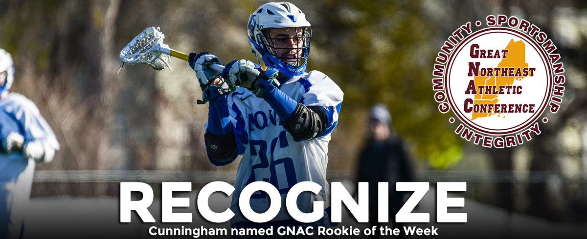 Cunningham Selected as GNAC Rookie of the Week